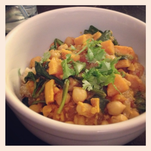 Quinoa, Chickpeas & Sweet Potatoes