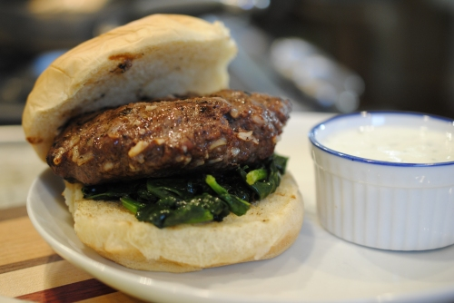 Rice & Lamb Burgers with Spinach